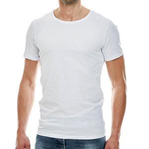 Beste T-shirt met ronde hals - Girav Osaka wit heren
