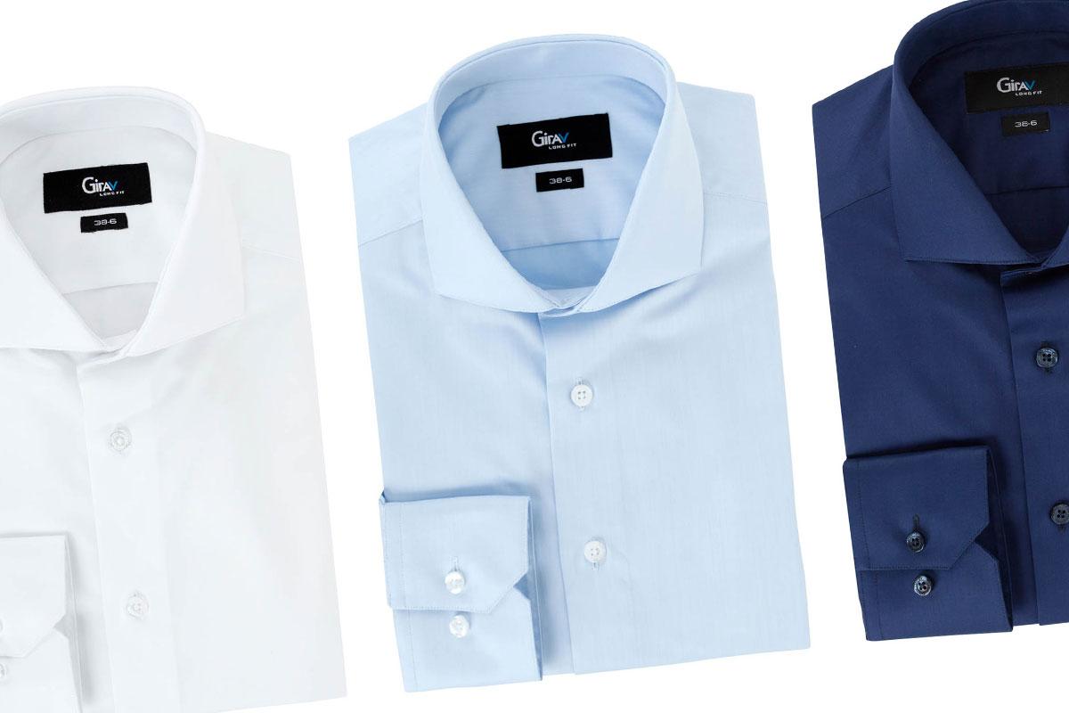 Overhemd Getailleerd Heren.Lange Overhemden Voor Mannen Girav