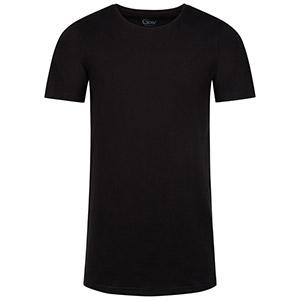 Zwarte T-shirts met ronde hals