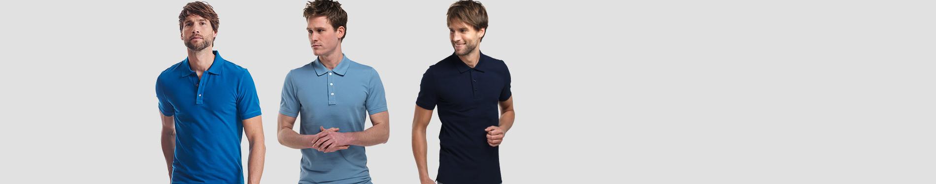 Blauwe Poloshirts