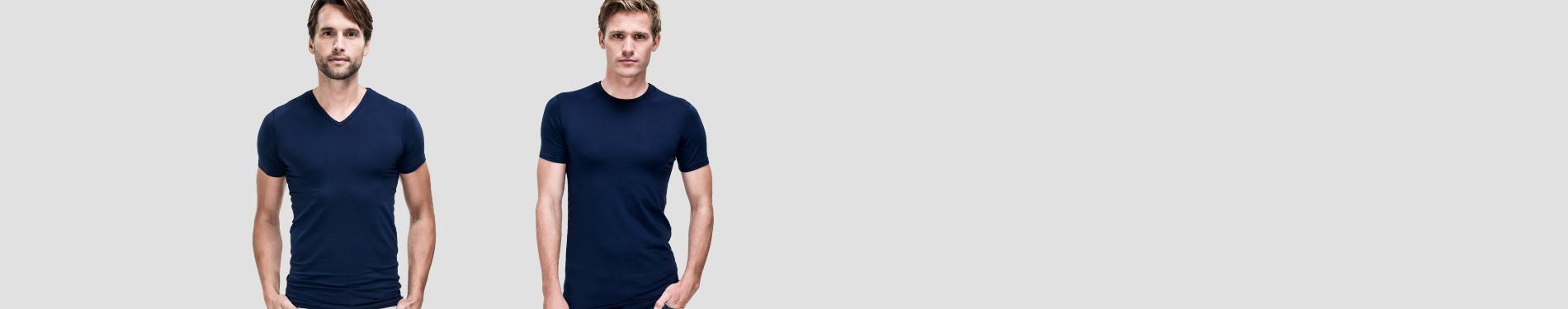Blauwe T-shirts