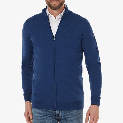 Seattle full-zip, Jeans blue melange