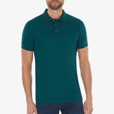 Marbella Slim Fit Poloshirt, Deep green