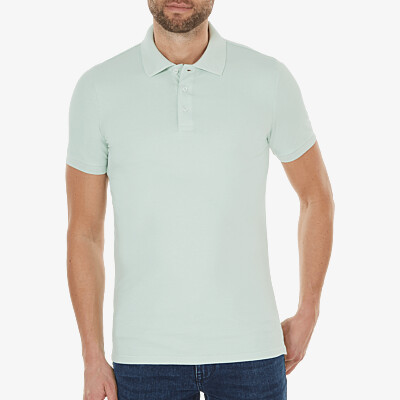 Marbella Slim Fit Poloshirt, Light mint