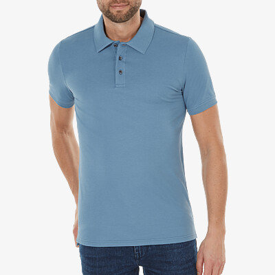 Marbella Slim Fit Poloshirt, Jeans blue