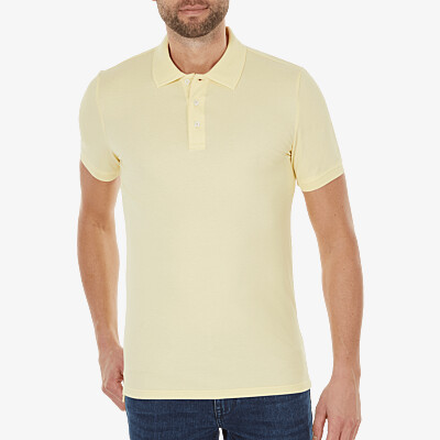Marbella Slim Fit Poloshirt, Light yellow