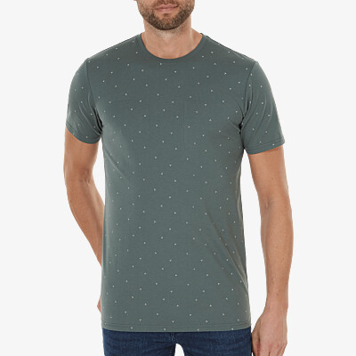 Valencia AOP T-shirt, Metal green