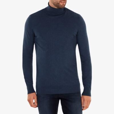 Bari Light Turtleneck, Dark jeans melange