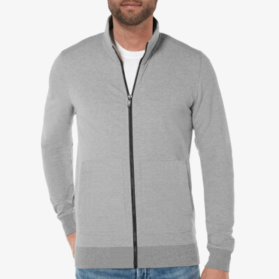 Aberdeen Light Cardigan, Grey Melange