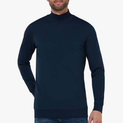 Atlanta High Neck Sweater, Navy