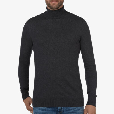Bari Light turtleneck, Antraciet melange