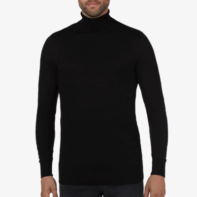 Bari Light turtleneck, Zwart
