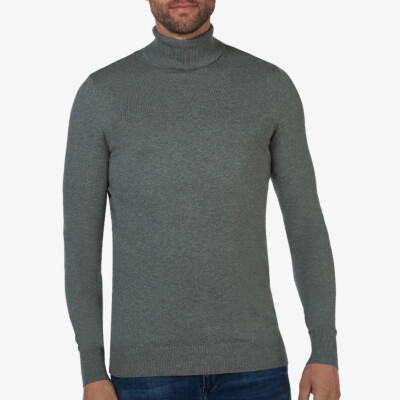 Bari Light turtleneck, Grijs melange