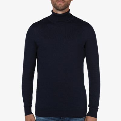 Bari Light turtleneck, Navy