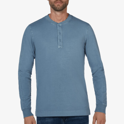 Blackpool Henley Sweater, Jeans Blue