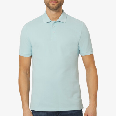 Madrid Regular Fit Polo, Dream Blue