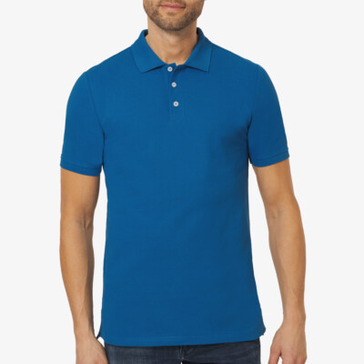 Madrid Regular Fit Polo, Snorkel Blue