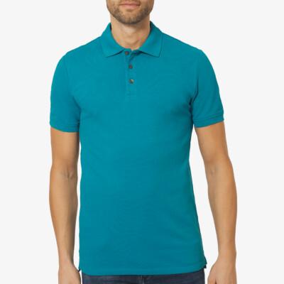 Marbella Slim Fit Poloshirt, Ocean Blue