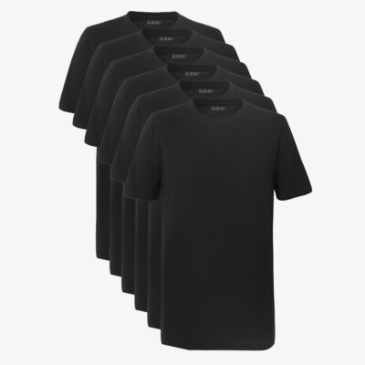 SixPack Sydney Heavy T-shirts, 6-pack Zwart