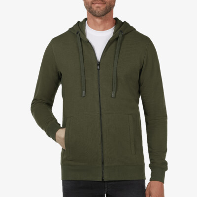 Denver Full Zip Hoodie, Army Green