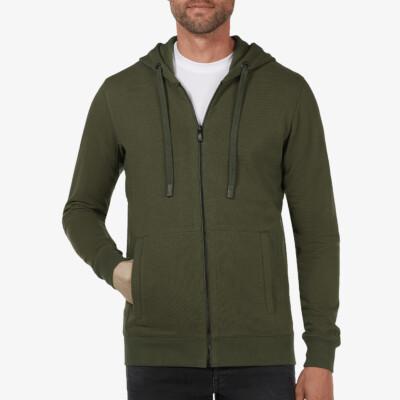 Denver Full Zip Hoodie, Army Green