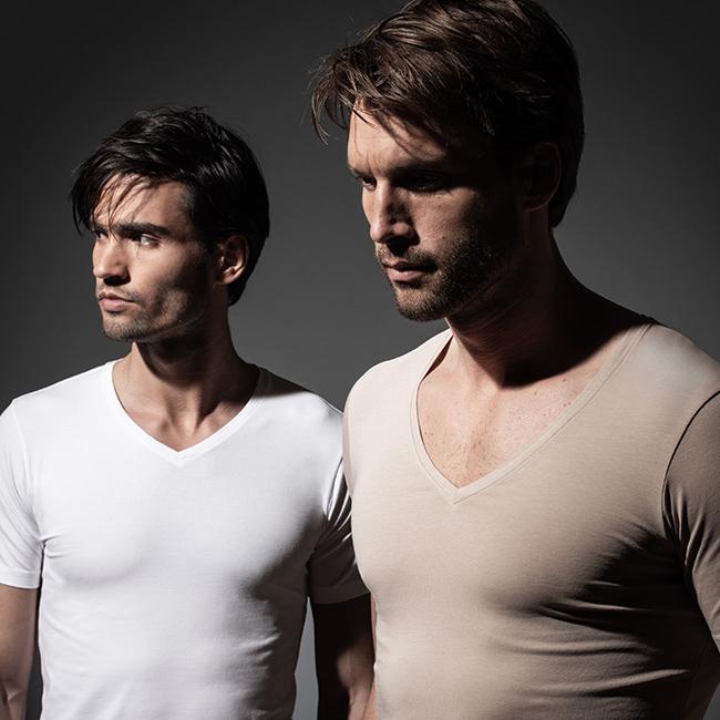 Nieuw extra dun en onzichtbaar ondershirt Girav Hanoi voor heren - tegen plekken en zweetgeur