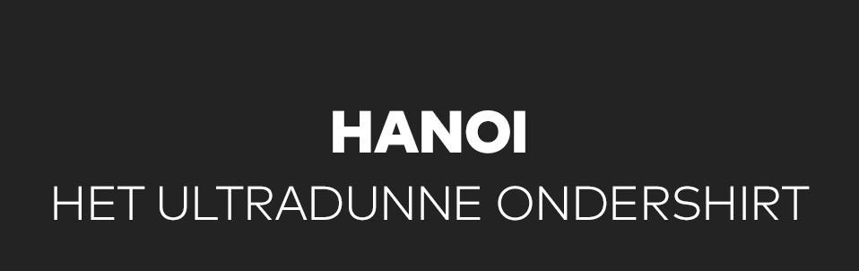 Hanoi vederlicht en niet zichtbaar T-shirt voor mannen, perfect voor onder een overhemd, polo of trui