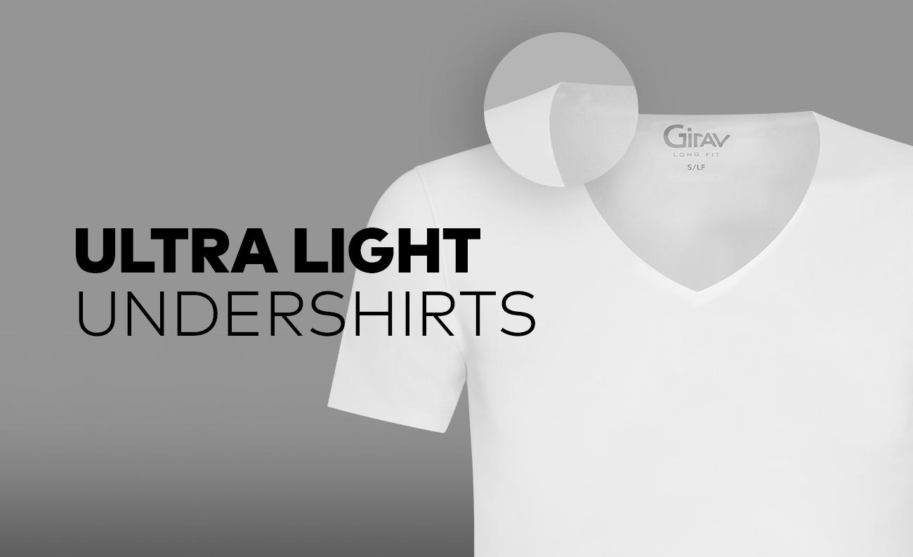 Zomerse onzichtbare heren T-shirts van Girav - Ultralight ondershirt Hanoi