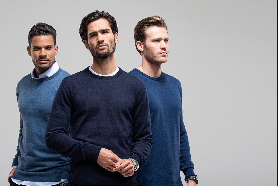 Cotton cashmere heren pullovers van Girav: lang en perfect tegen kou!