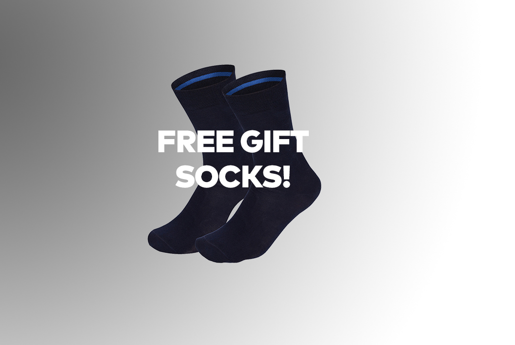Free gift! Receive a 2-pack Oxford men's socks when purchasing for €50 worth of Girav T-shirts